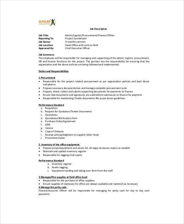 Job Description For Project Coordinator Project Coordinator Job - logistics coordinator job description
