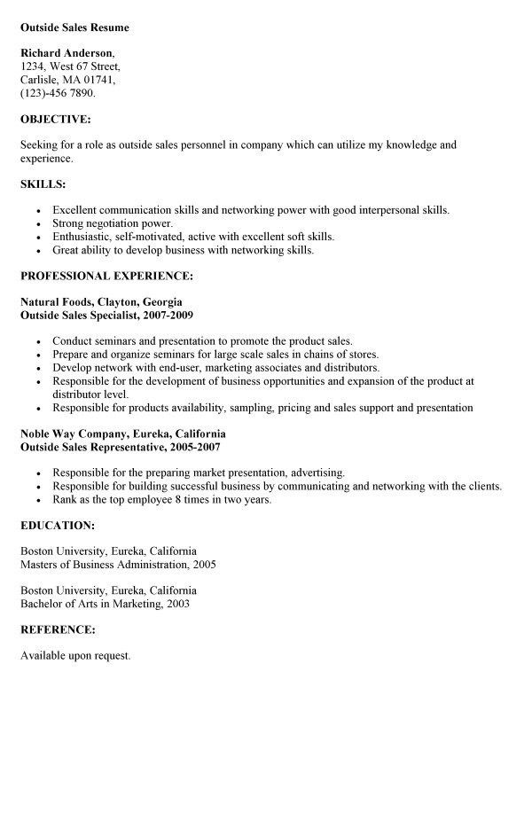 Outside Sales Cover Letter Sales Cover Letter Sample, Outside - sales cover letters