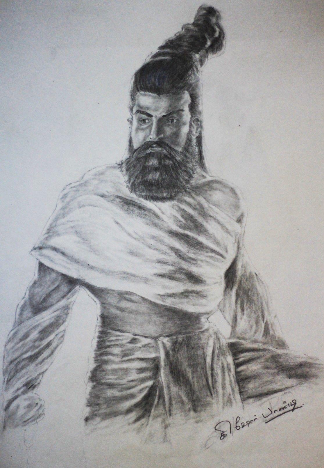 """""""Valluvar"""" Art by Kishore pandi Art, Pencil drawings"""