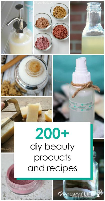 DIY beauty products are a huge trend right now — but the truth is most of us don't do it because it's trendy. We've searched high and low for the most awesome DIY beauty recipes so you don't have to. Click here to check out this huge collection of 200+ DIY homemade beauty products and recipes! #recipes #diy #homemade #beauty | livingthenourishedlife.com