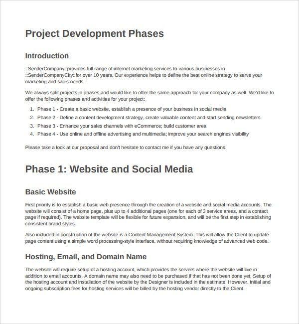 Web Application Proposal Template Web Design Proposal Sample - website proposal template
