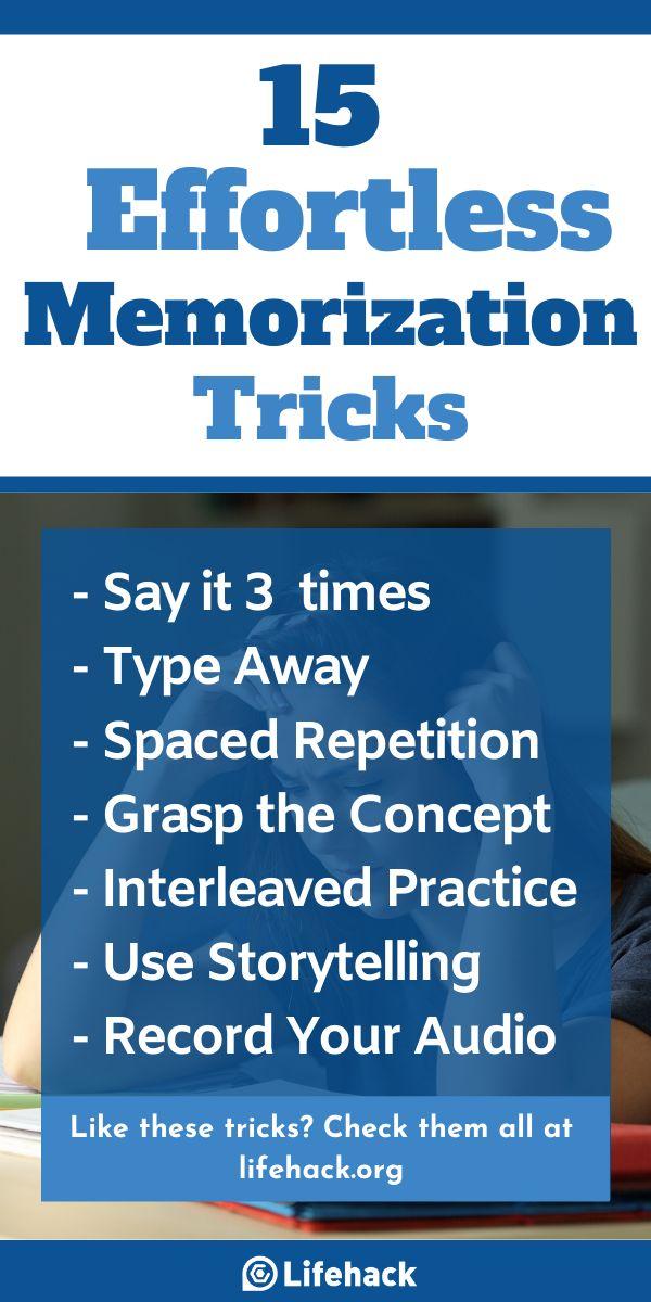 15 Effortless Memorization Tricks To Remember Anything