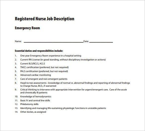 sample emergency nurse resume | node2004-resume-template ...