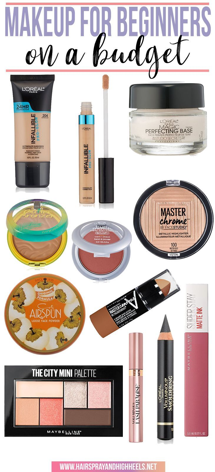 BOOKMARK THIS! An entire makeup collection for under $90. This is the perfect Makeup for Beginners.