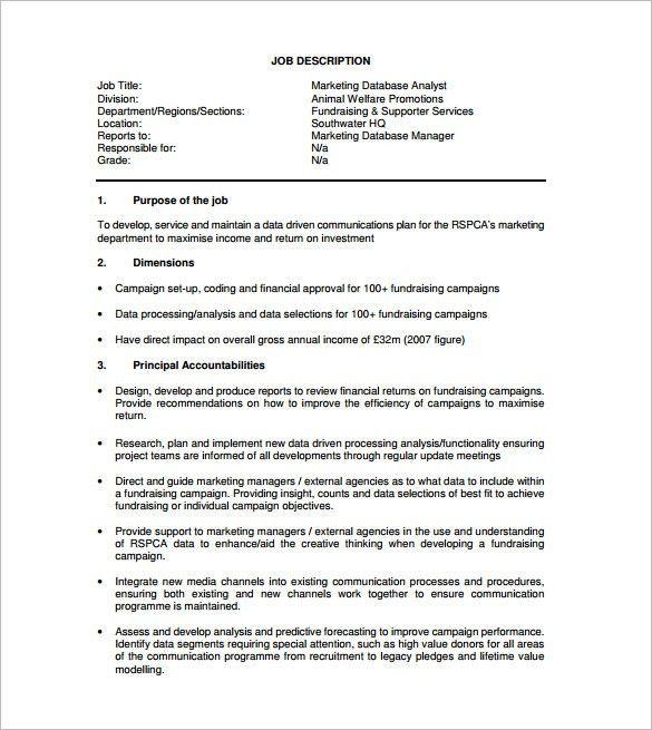 database marketing analyst sample resume cvresumeunicloudpl - Campaign Analyst Sample Resume