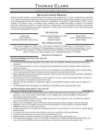 av technician sample resume - Audio Operator Sample Resume