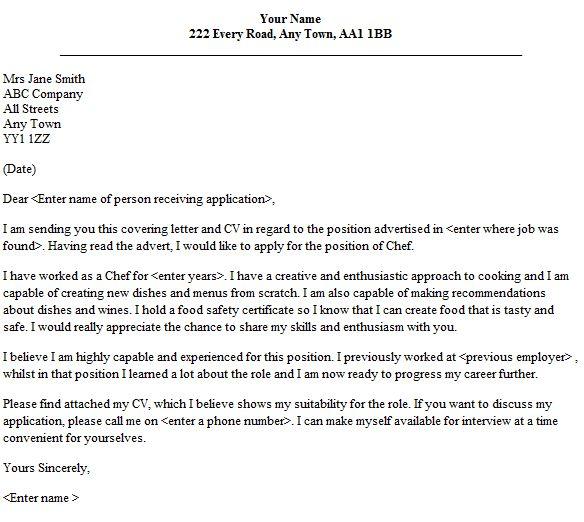Wine steward cover letter
