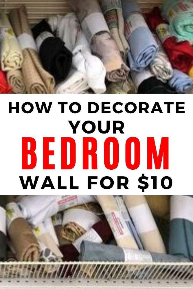 DIY Bedroom Wall Decor Idea Above Bed