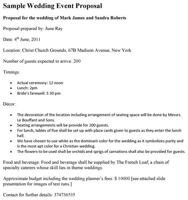 Event Proposal Sample Letter Sample Event Proposal Letter 7 - event proposal template