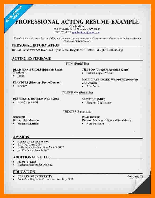 audition resume template acting resume template daily actor actor resume - Theatrical Resume Template