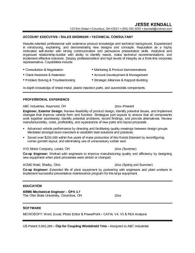 Resume Objective Examples Engineering - Examples of Resumes