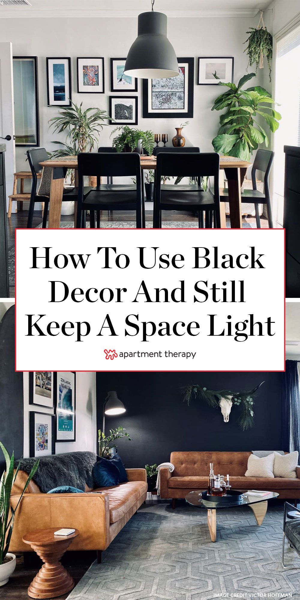 This small bungalow shows how to use a lot of black decor, but still keep a space light. #blackpaint #blackdecor #blackaccents #bolddecor #scandidecor #scandiindustrial #industrialdecor #scandinaviandecor #livingroomideas #paintideas #darkpaintcolors