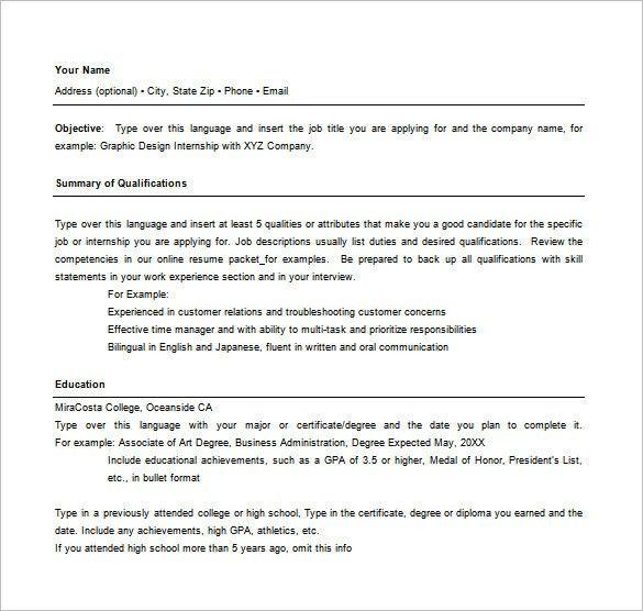 Free Combination Resume Templates Free Resume Templates - combined resume template