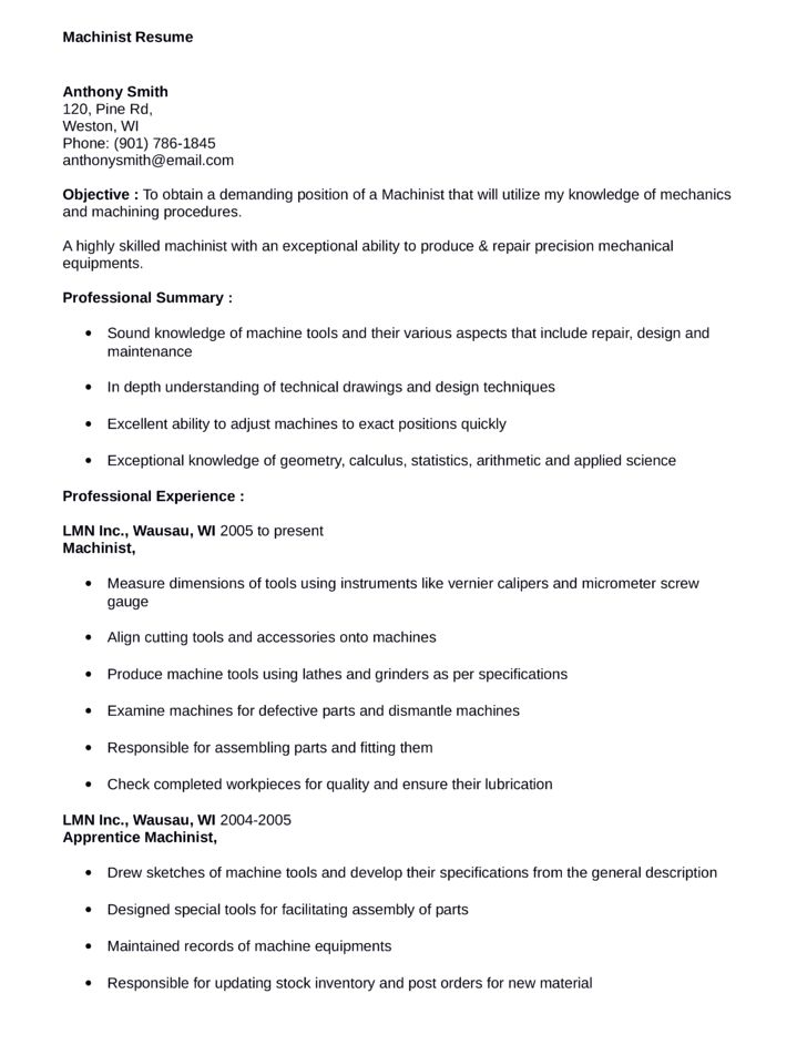 machinist apprentice sample resume node2002-cvresumepaasprovider