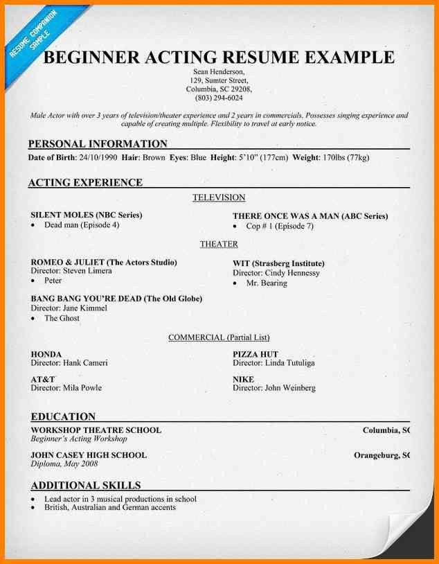 beginners resume