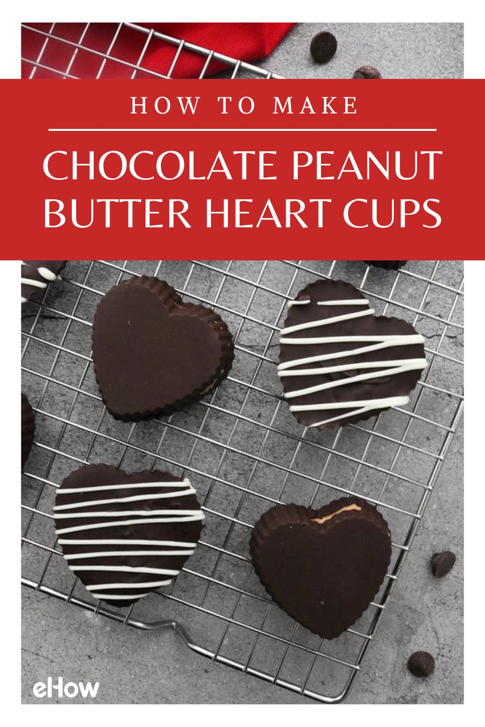 How to Make Chocolate Peanut Butter Heart Cups