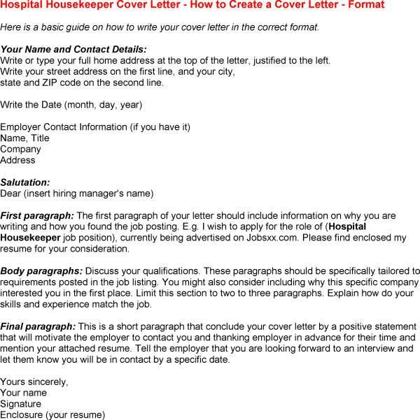 Sample Housekeeper Cover Letter Housekeeping And Cleaning Cover - housekeeping resumes