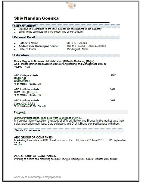 Work Experience Sample Resume How To Write A Resume With Little - resume with work experience