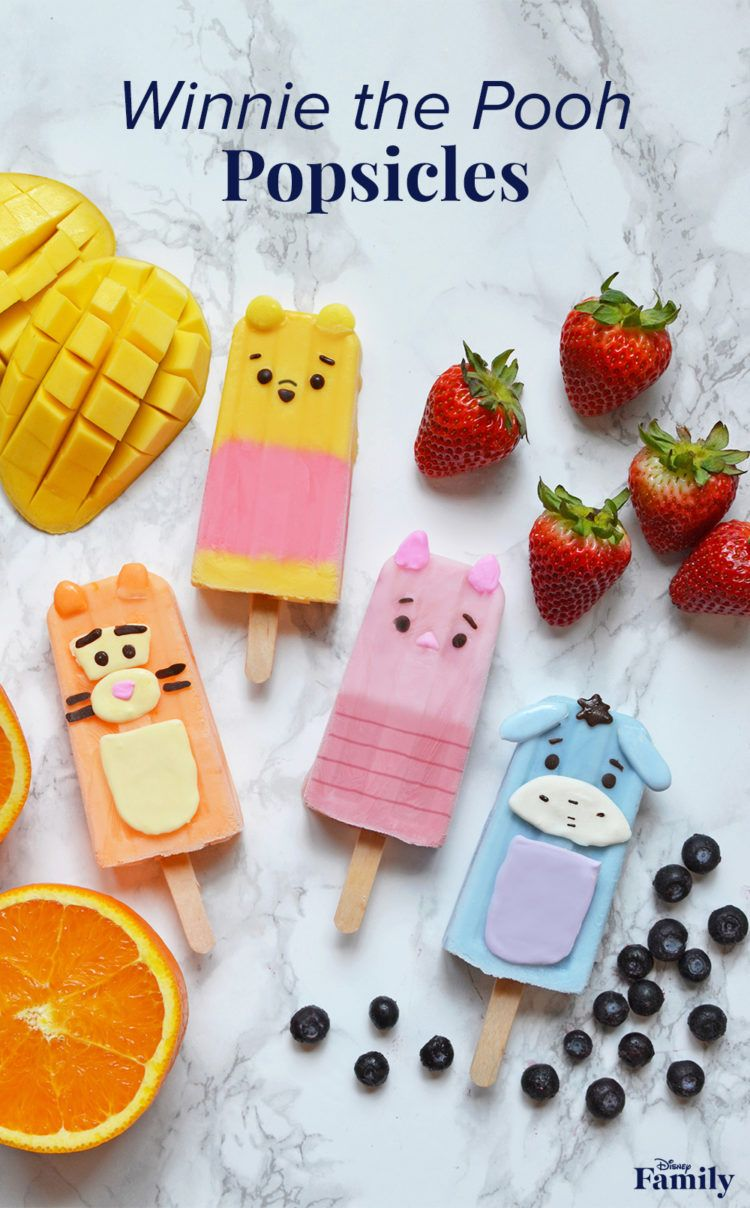 The only thing more fun than a frozen treat is one that looks like a Disney character! Turn your favorite fruit smoothies into delicious Winnie the PoohPopsicles for a healthy treat that will keep you cool all summer long. These are a great way to introduce your kids to smoothies—and the added cuteness of Pooh and friends make them extra special. Click for the Winnie the Pooh recipe.