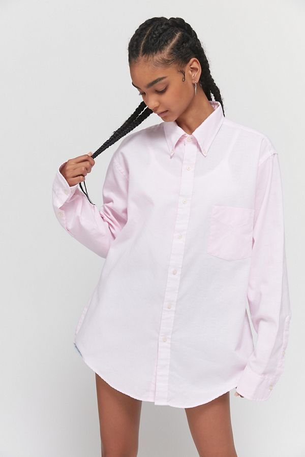 Urban Renewal Vintage Oversized Solid Oxford Shirt