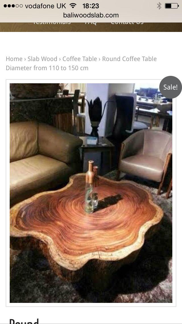 Wood Slab Table By Oldrose