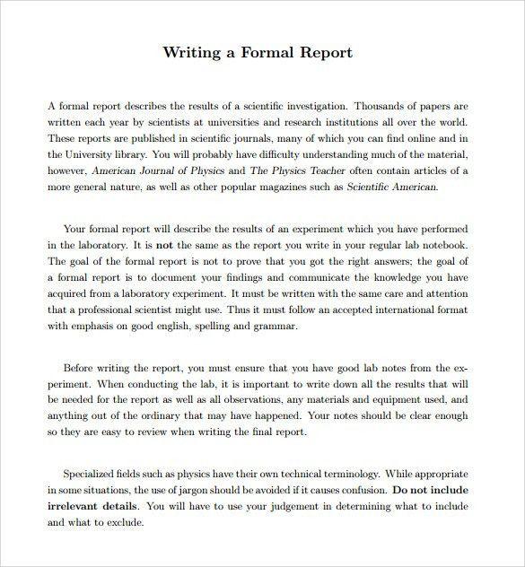 formal report format sample node2003-cvresumepaasprovider