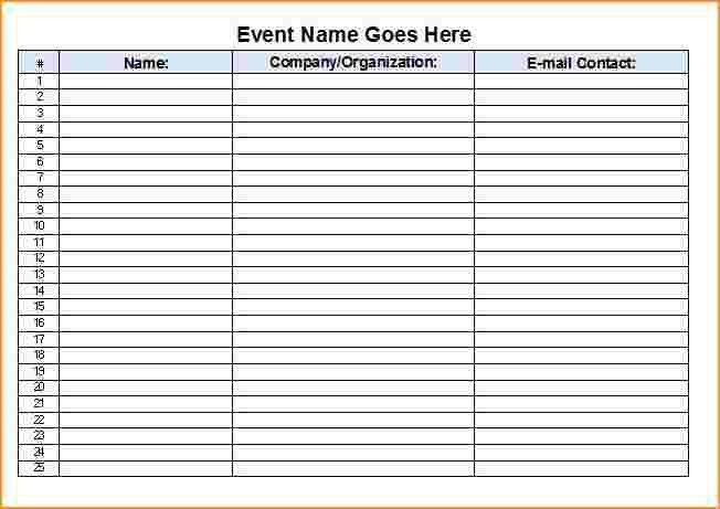 Sign Up Sheets Template Sign Up Sheets Potluck Sign Up Sheet - sample sign up sheet
