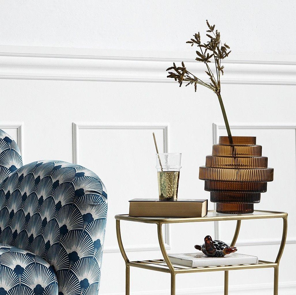 Vase art déco verre  Rill NORDAL