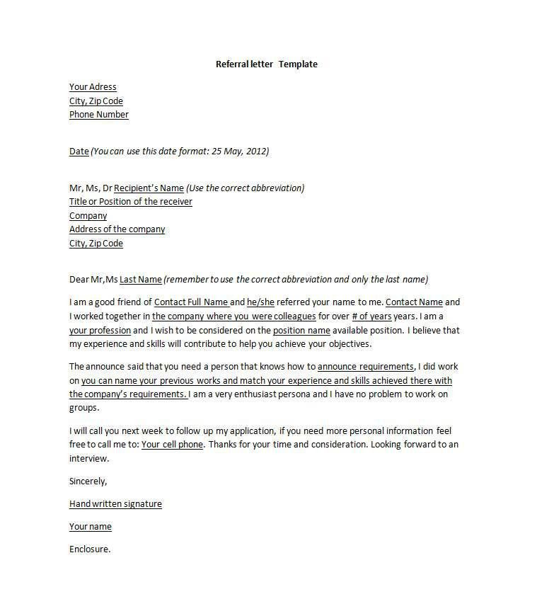 Format Letter Of Reference goodly reference letter for job u2013 - format for letter of reference