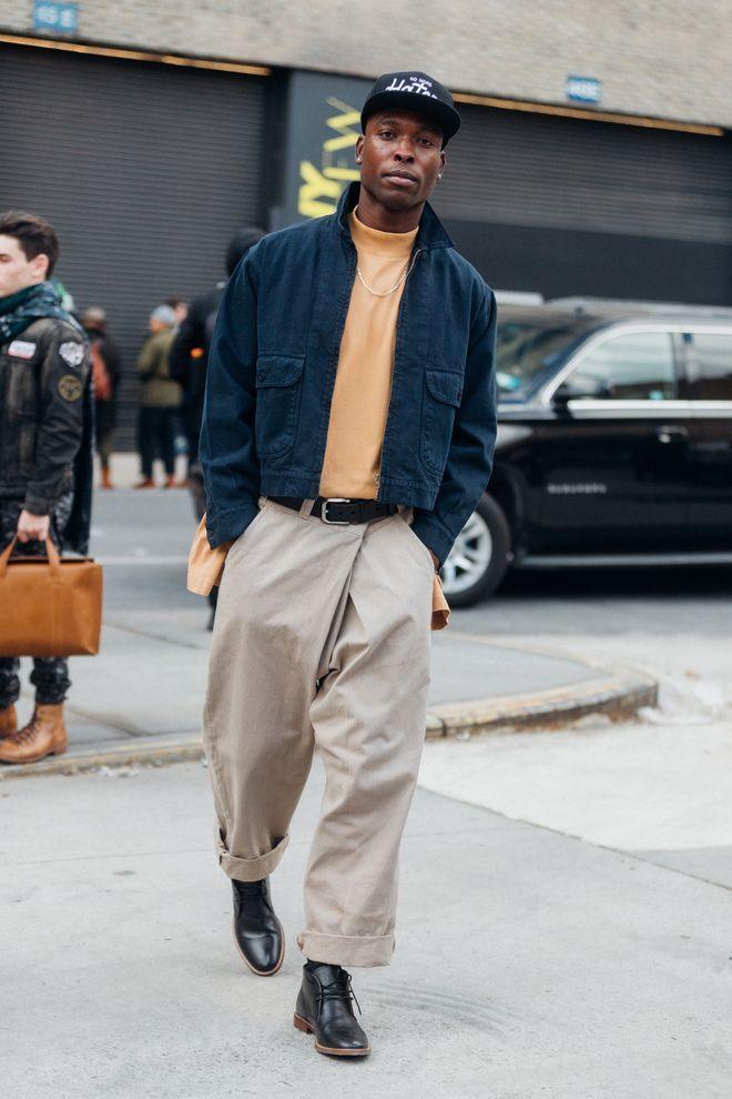 Street style à la Fashion Week homme automne-hiver 2017-2018 de New York – #à #automnehiver #de #Fashion #homme #la #Street #Style #Week #York