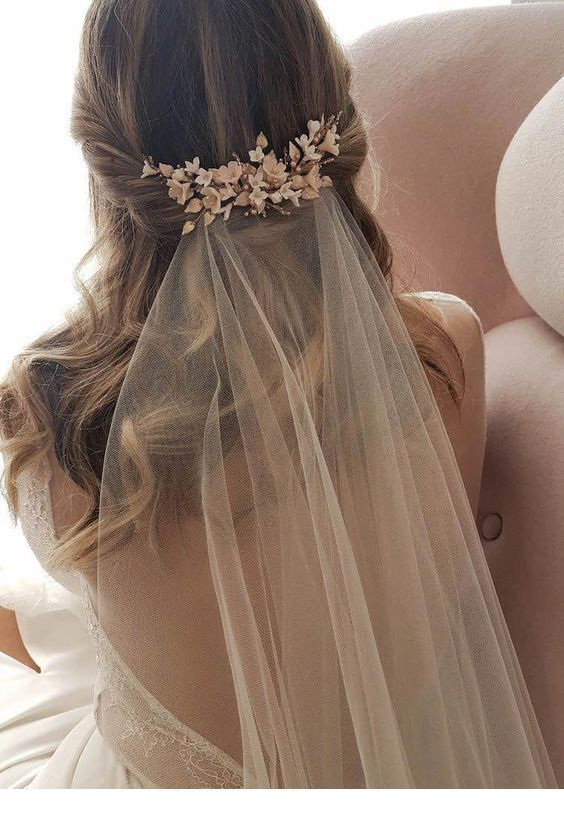 Romantic hairstyle and a headpiece