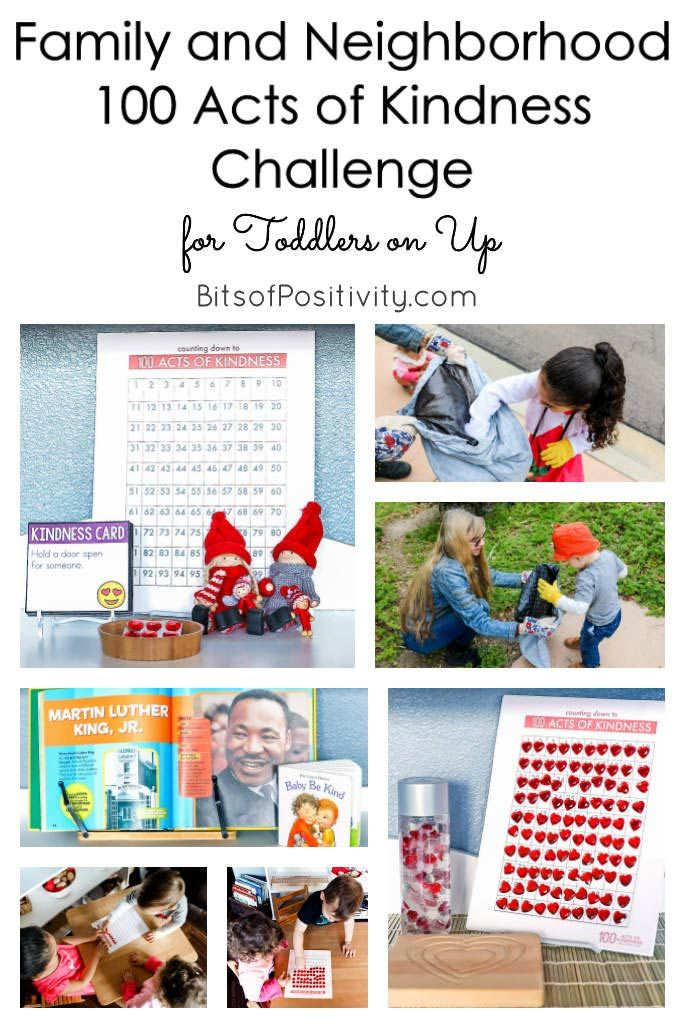 Family and Neighborhood 100 Acts of Kindness Challenge for Toddlers on Up - Bits of Positivity