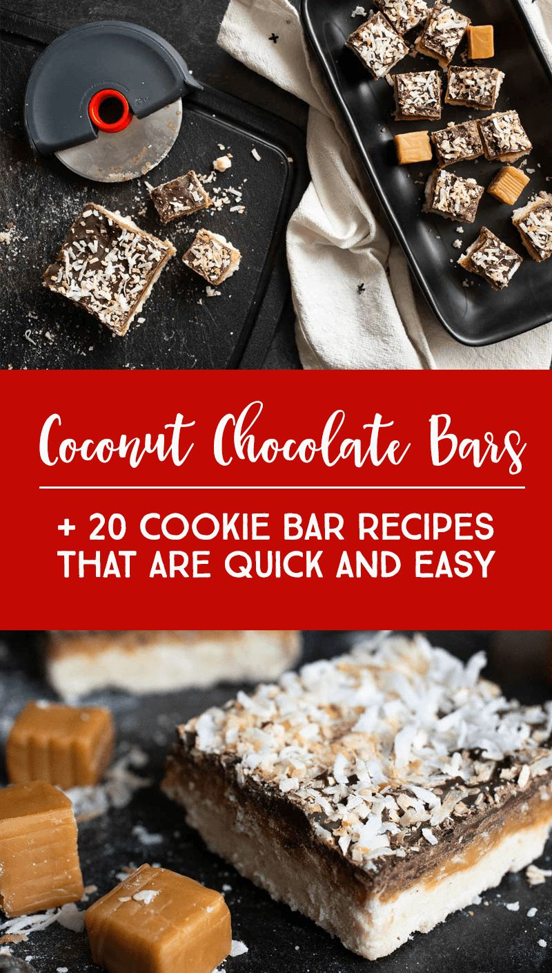 THE BEST Coconut Chocolate Bar + 20 Cookie Bar Recipes