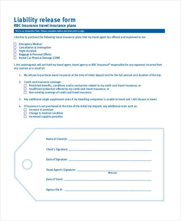Release Of Liability Form Sample Release Of Liability Form - free release of liability form