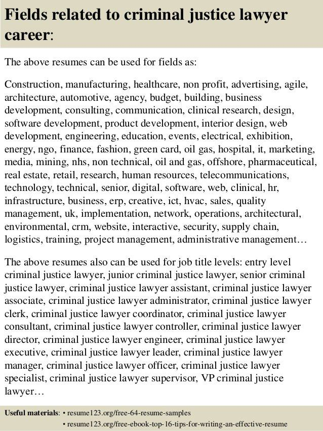 Criminal Justice Resume Examples - Examples of Resumes - criminal justice resume