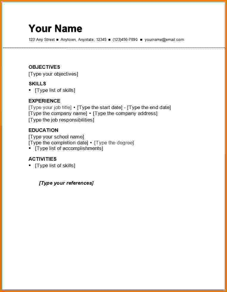 Resume Template First Job Resume Template For Students First Job