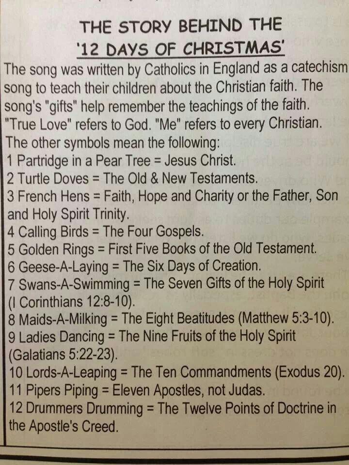 Origin Of 12 Days Of Christmas.True Meaning Of 12 Days Of Christmas Libridacqua