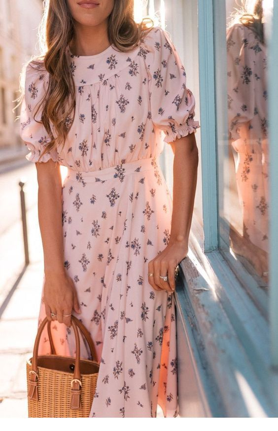 Cute boho dress and bag