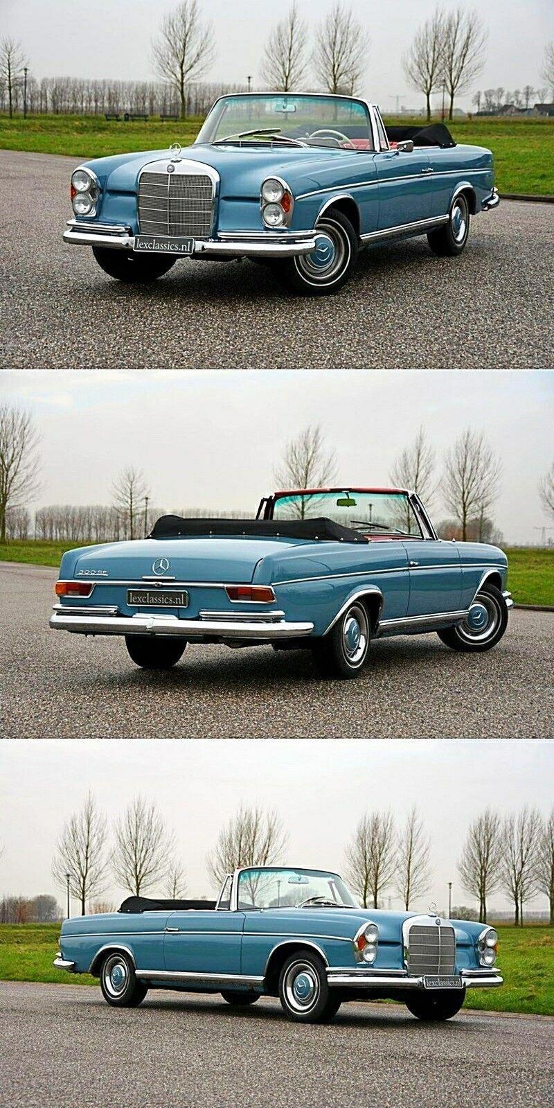 1964 Mercedes Benz 300 SE Cabriolet. - W112 #Mercedesclassiccars #BMWclassiccars