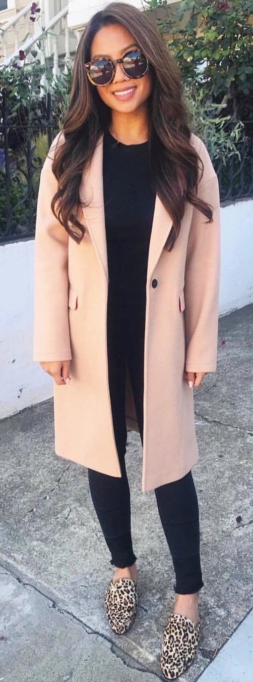 pink and black long sleeve dress #winter #outfits
