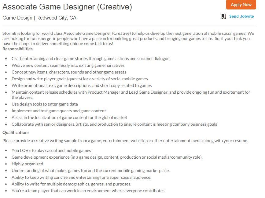 100 senior programmer resume craig dudley web designer and video - game designer job description