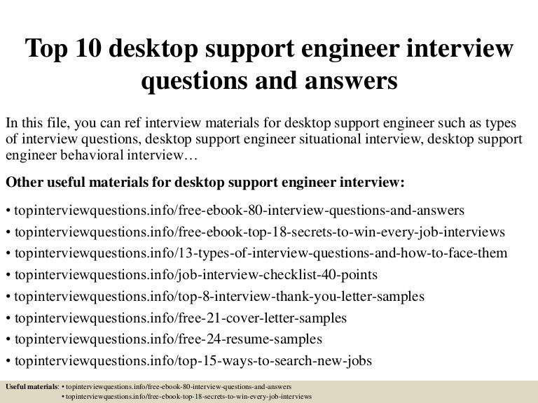Desktop Support Resume Examples] Resume For Desktop Support