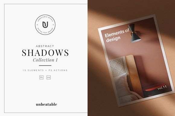 Abstract Shadows Effect Collection by The Iconic on @creativemarket