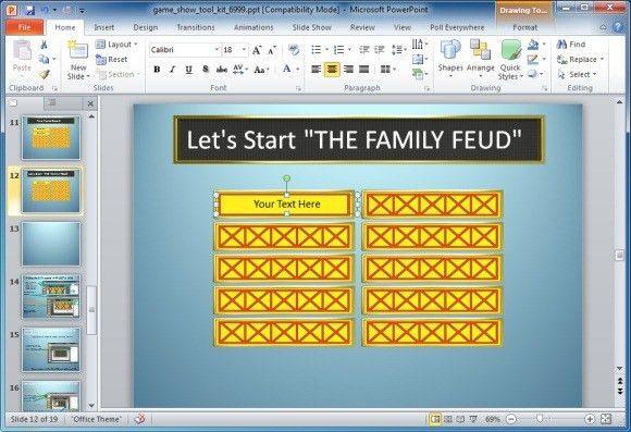 Family Feud Name Tag Template 1 Steve Harvey Family Feud - family feud power point template