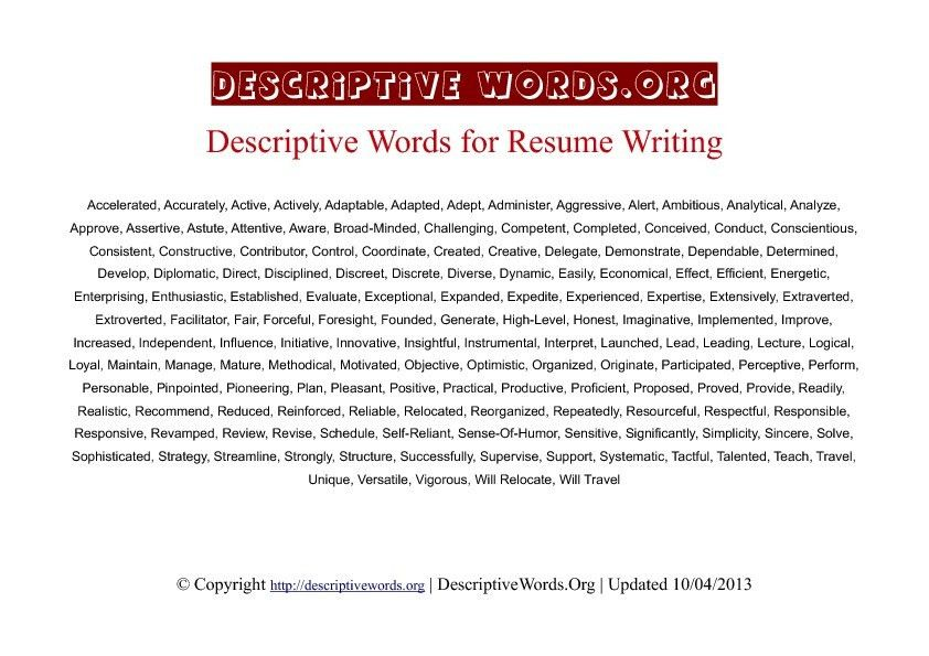 how to describe yourself in a resume example best university