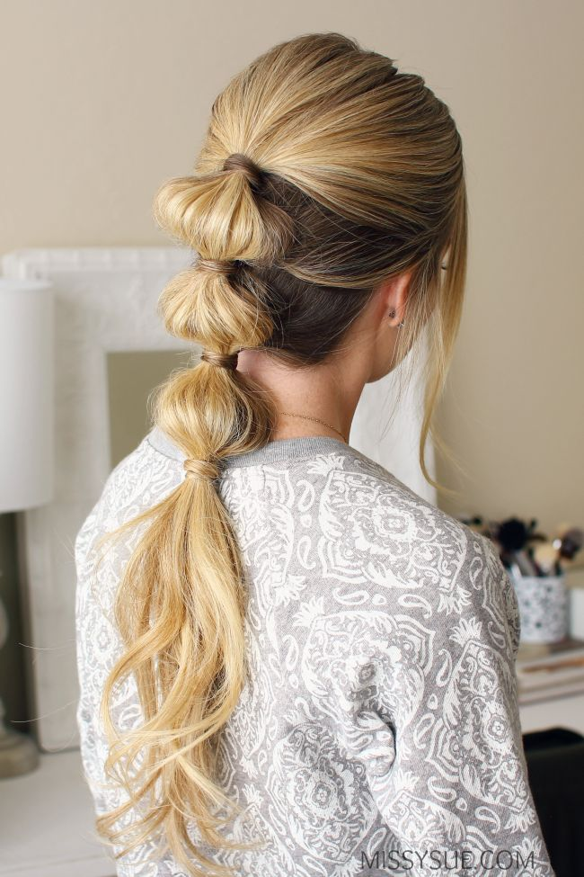 "If you've been stuck in a hairstyle rut then you are going to love this triple bubble ponytail. It's simple and stylish and works even better on second or third day hair. This can definitely be done in under 10 minutes so even if you've…<p><a href=""http://www.homeinteriordesign.org/2018/02/short-guide-to-interior-decoration.html"">Short guide to interior decoration</a></p>"