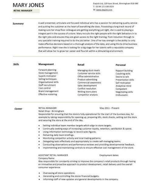 retail manager resume templates retail manager cv template resume retail sales associate job description - Sales Associate Job Description Resume