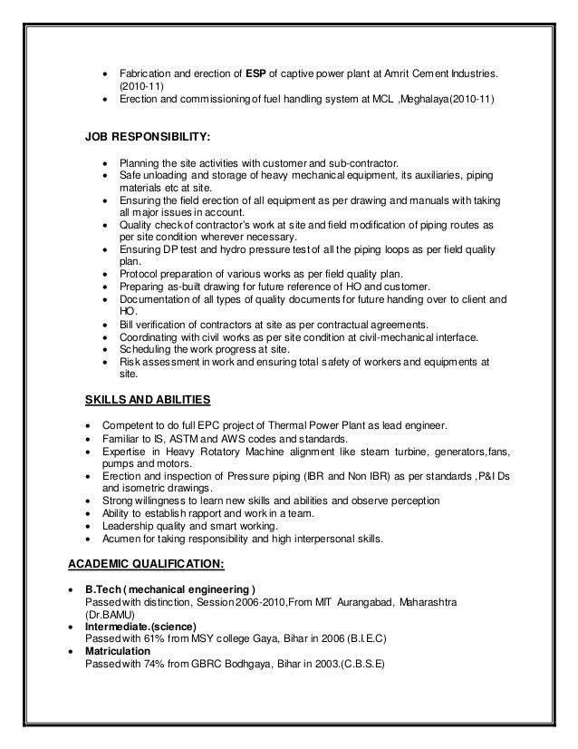 Plant Chemist Resume Plant Chemist Resume Sample Chemist Resume