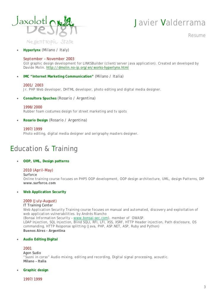 ruby on rails developer resume