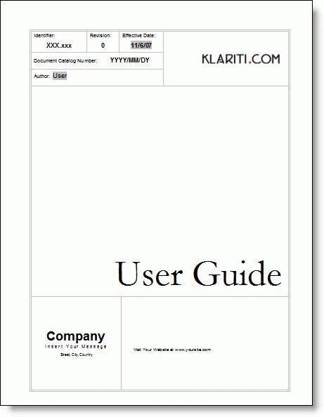 Manual Template Instruction Manual Template 10 Free Word Pdf - sample user manual template